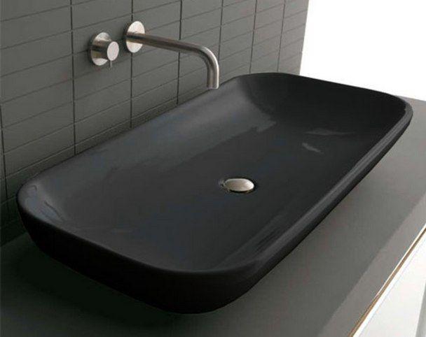 Черная раковина Althea Ceramica Design Elle